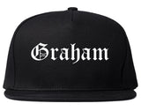 Graham North Carolina NC Old English Mens Snapback Hat Black