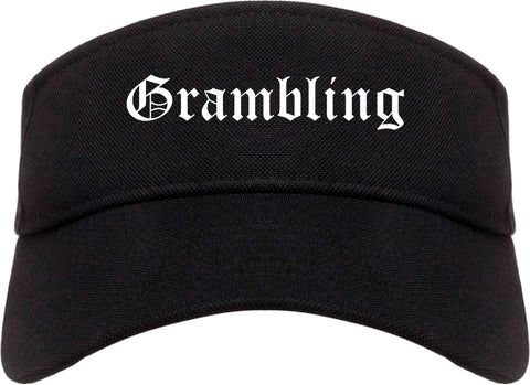 Grambling Louisiana LA Old English Mens Visor Cap Hat Black