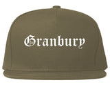 Granbury Texas TX Old English Mens Snapback Hat Grey