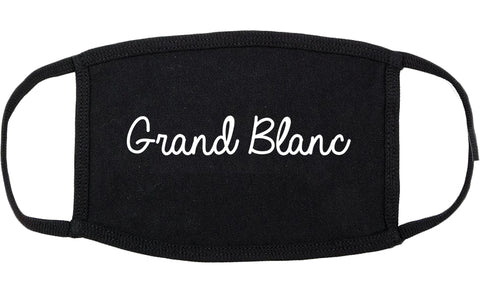 Grand Blanc Michigan MI Script Cotton Face Mask Black