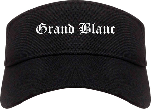 Grand Blanc Michigan MI Old English Mens Visor Cap Hat Black