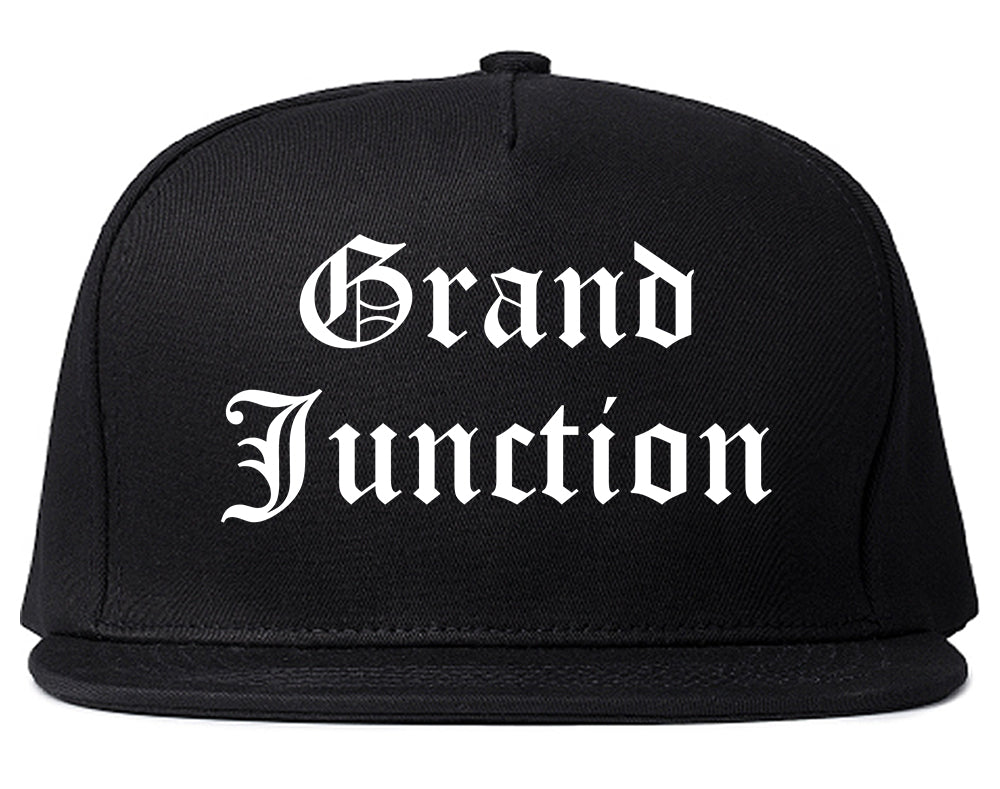 Grand Junction Colorado CO Old English Mens Snapback Hat Black