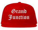 Grand Junction Colorado CO Old English Mens Snapback Hat Red