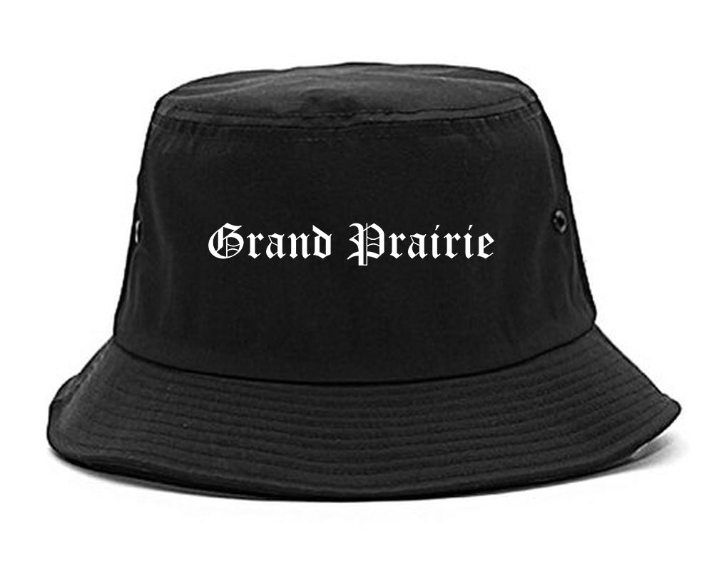 Grand Prairie Texas TX Old English Mens Bucket Hat Black
