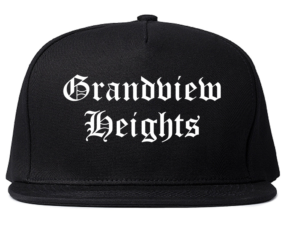 Grandview Heights Ohio OH Old English Mens Snapback Hat Black