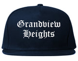 Grandview Heights Ohio OH Old English Mens Snapback Hat Navy Blue