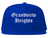 Grandview Heights Ohio OH Old English Mens Snapback Hat Royal Blue