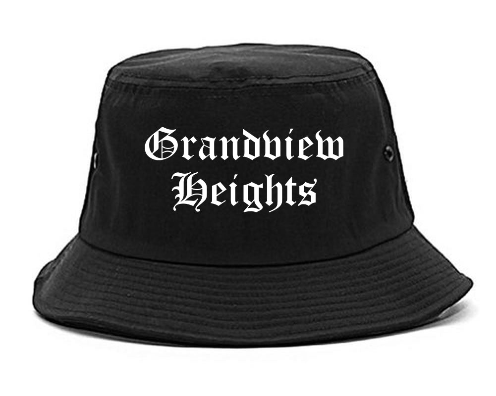 Grandview Heights Ohio OH Old English Mens Bucket Hat Black