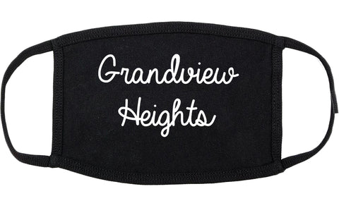 Grandview Heights Ohio OH Script Cotton Face Mask Black