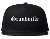 Grandville Michigan MI Old English Mens Snapback Hat Black