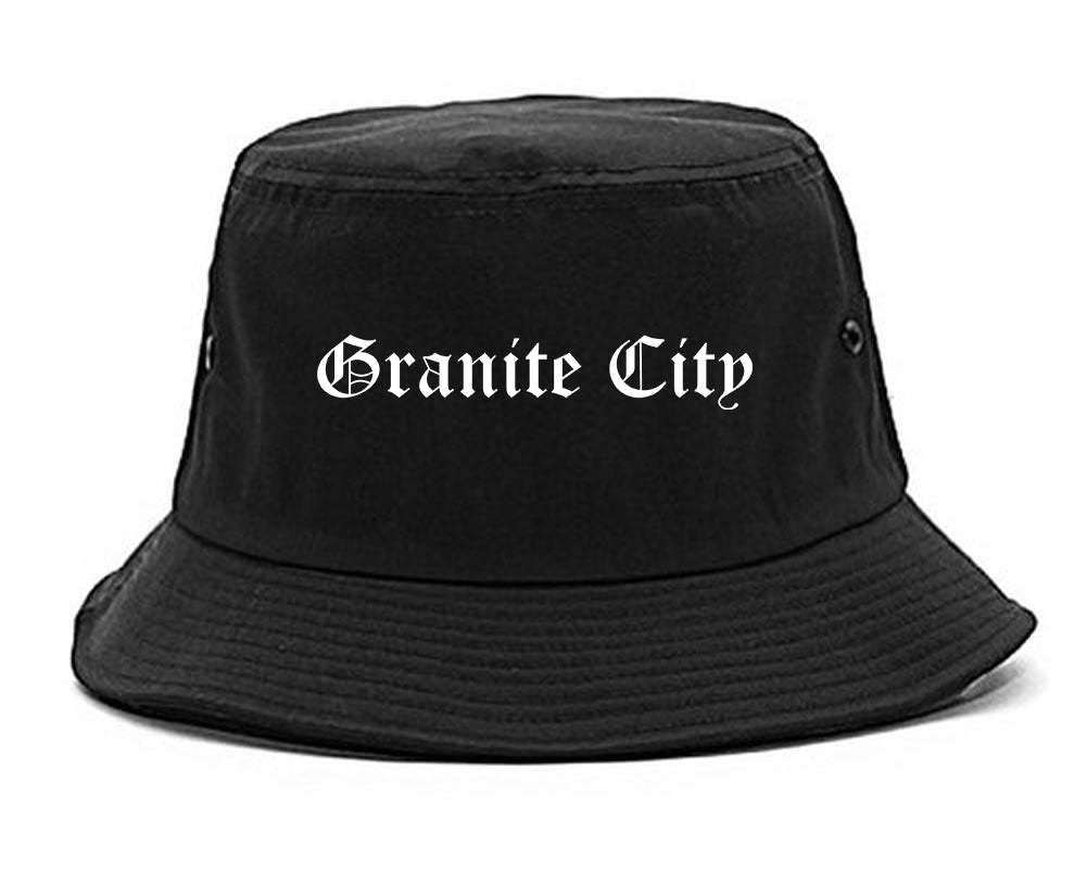 Granite City Illinois IL Old English Mens Bucket Hat Black