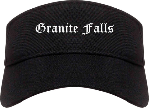 Granite Falls North Carolina NC Old English Mens Visor Cap Hat Black