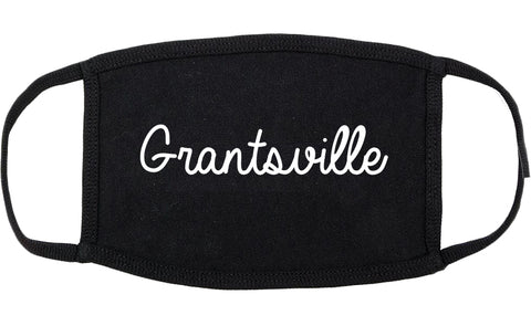 Grantsville Utah UT Script Cotton Face Mask Black