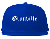Granville Ohio OH Old English Mens Snapback Hat Royal Blue