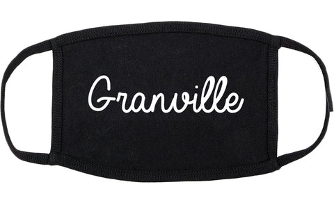 Granville Ohio OH Script Cotton Face Mask Black