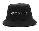 Grapevine Texas TX Old English Mens Bucket Hat Black