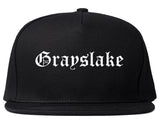 Grayslake Illinois IL Old English Mens Snapback Hat Black