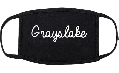 Grayslake Illinois IL Script Cotton Face Mask Black