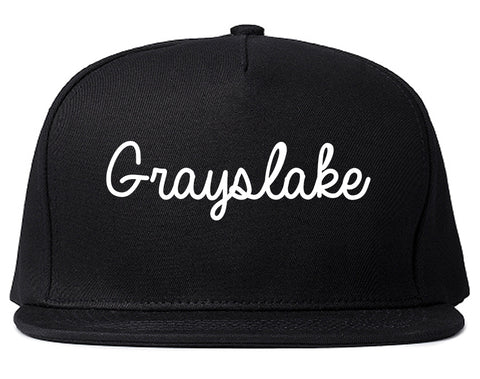 Grayslake Illinois IL Script Mens Snapback Hat Black