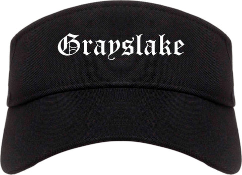 Grayslake Illinois IL Old English Mens Visor Cap Hat Black