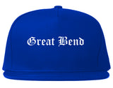 Great Bend Kansas KS Old English Mens Snapback Hat Royal Blue