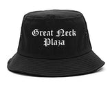 Great Neck Plaza New York NY Old English Mens Bucket Hat Black