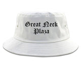 Great Neck Plaza New York NY Old English Mens Bucket Hat White