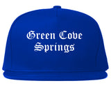 Green Cove Springs Florida FL Old English Mens Snapback Hat Royal Blue