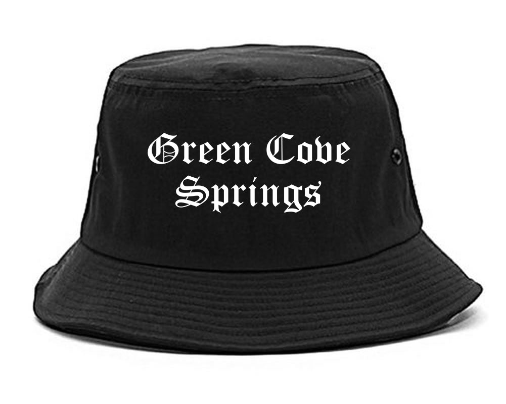 Green Cove Springs Florida FL Old English Mens Bucket Hat Black