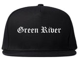 Green River Wyoming WY Old English Mens Snapback Hat Black
