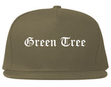 Green Tree Pennsylvania PA Old English Mens Snapback Hat Grey