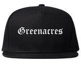 Greenacres Florida FL Old English Mens Snapback Hat Black