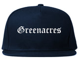 Greenacres Florida FL Old English Mens Snapback Hat Navy Blue