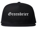 Greenbrier Tennessee TN Old English Mens Snapback Hat Black