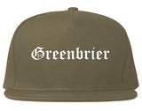 Greenbrier Tennessee TN Old English Mens Snapback Hat Grey
