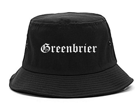 Greenbrier Tennessee TN Old English Mens Bucket Hat Black