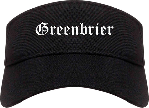 Greenbrier Tennessee TN Old English Mens Visor Cap Hat Black