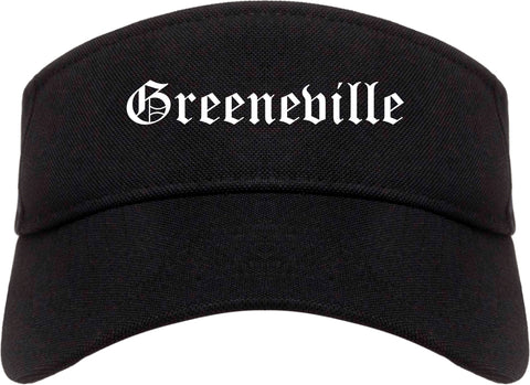 Greeneville Tennessee TN Old English Mens Visor Cap Hat Black