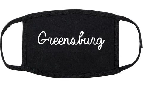Greensburg Indiana IN Script Cotton Face Mask Black