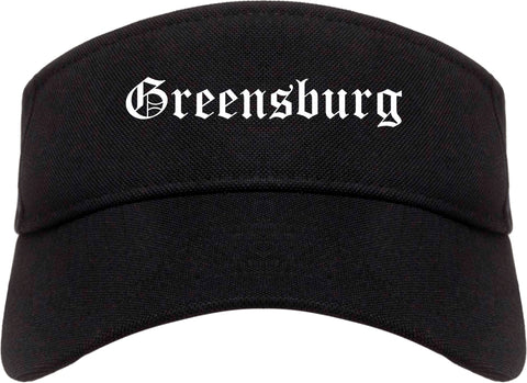 Greensburg Pennsylvania PA Old English Mens Visor Cap Hat Black
