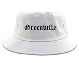 Greenville Ohio OH Old English Mens Bucket Hat White