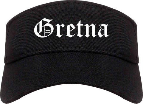 Gretna Louisiana LA Old English Mens Visor Cap Hat Black