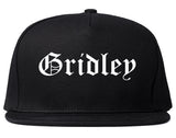 Gridley California CA Old English Mens Snapback Hat Black
