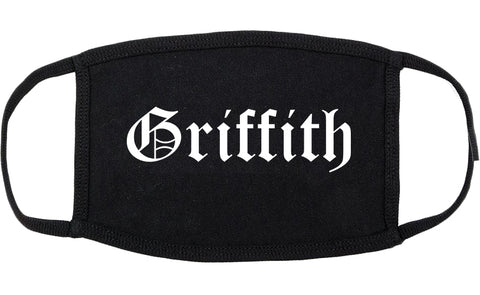 Griffith Indiana IN Old English Cotton Face Mask Black