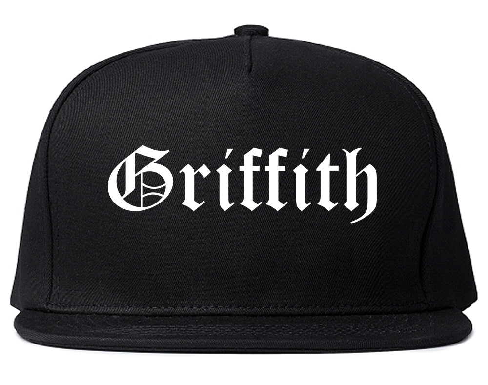 Griffith Indiana IN Old English Mens Snapback Hat Black