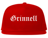 Grinnell Iowa IA Old English Mens Snapback Hat Red