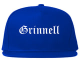 Grinnell Iowa IA Old English Mens Snapback Hat Royal Blue