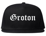 Groton Connecticut CT Old English Mens Snapback Hat Black