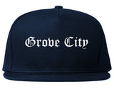 Grove City Pennsylvania PA Old English Mens Snapback Hat Navy Blue