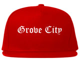 Grove City Pennsylvania PA Old English Mens Snapback Hat Red